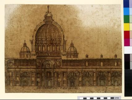Longitudinal section of the Basilica of Saint Peter, Rome