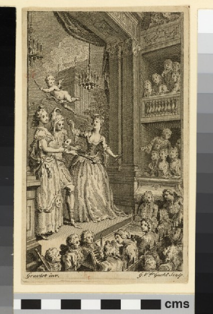 Allegory of the Theatre: frontispiece to 'The Beauties of the English Stage', vol. I, London