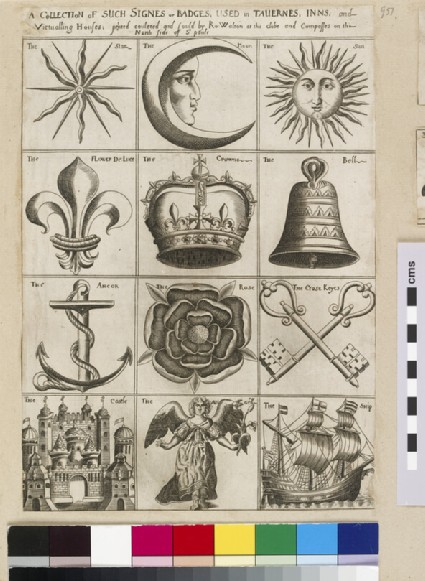 A collection of such signes or badges, used in tavernes, inns, and victualling houses