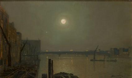 View of Southwark Bridge at Night