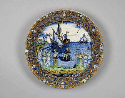 Bowl with the story of Ceyx and Alcyone