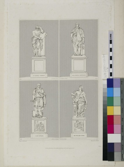 Monuments to Samuel Johnson, Joshua Reynolds, John Howard and Sir William Jones