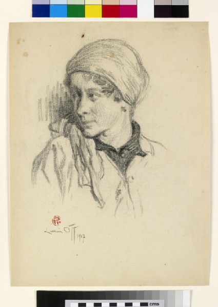 Head of a Woman turned to left