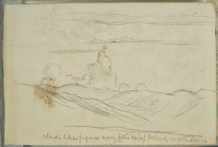 Recto: Study of Clouds over a Landscape