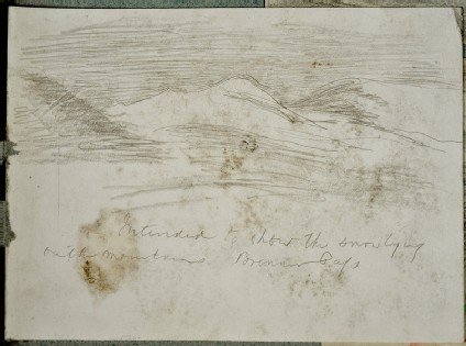 Recto: Study of Mountains and Clouds<br />Verso: Study of Mountains