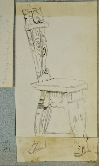 Recto: Study of an Ornamental Chair