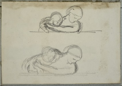 Two Studies of a Woman with her Arms round a Baby