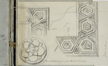 Study of hexagonal Motifs related to the Design of the Frame for 'The Shadow of Death'