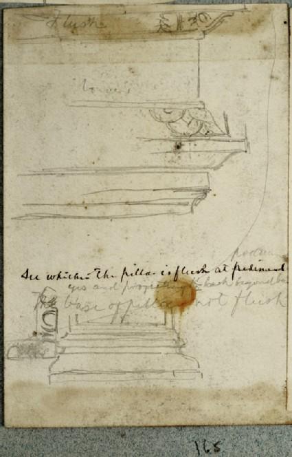 Recto and verso: Studies of Pillars