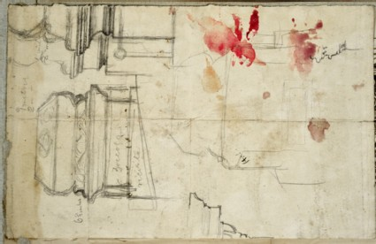 Recto: Design for the Tomb of Fanny Holman Hunt Verso: Notes of Paintings in the Louvre