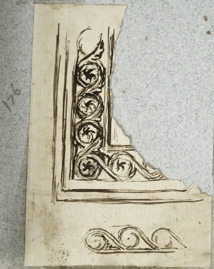 Fragment of a Frame Design: Guilloche incorporating a Star Pattern