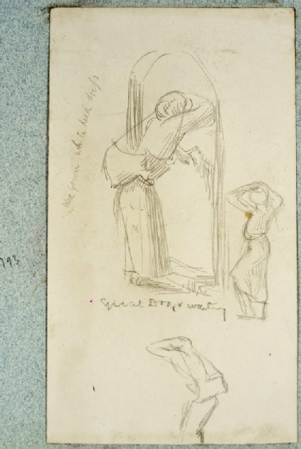 Study of a Figure in a Doorway, and two Figure Studies
