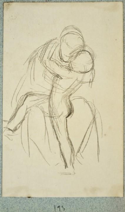 Study of a Boy embracing a Woman