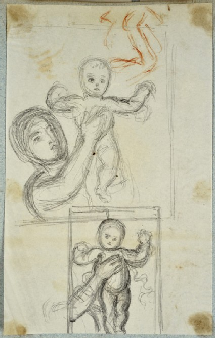 Studies of a Woman holding up a Baby