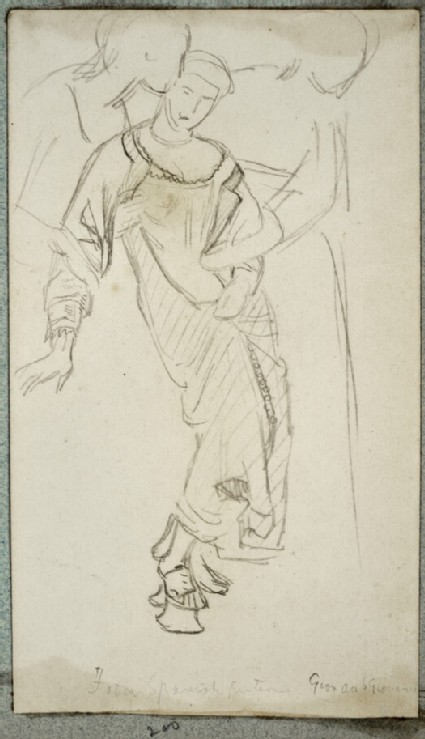 Study of two women supporting a draped figure
