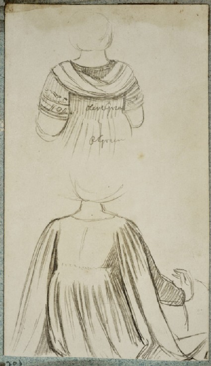 Two Studies of Renaissance Female Costumes