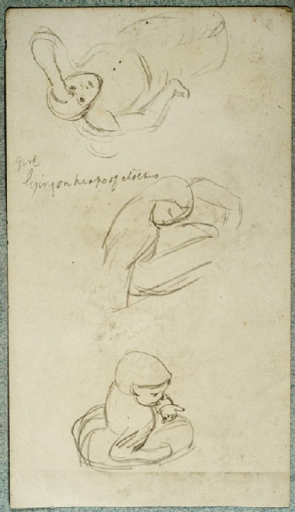 Three Studies of a Girl in various poses