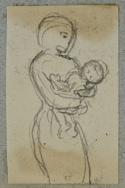 Woman holding a Baby