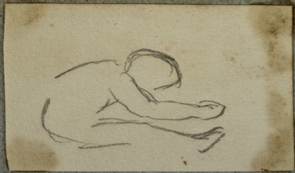 Sketch of a Seated Child