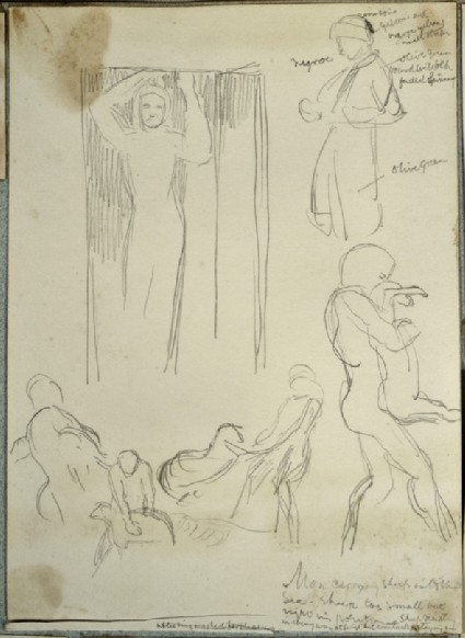 Figure Studies: Man in a Turban, Figure in a Doorway, Men with Sheep