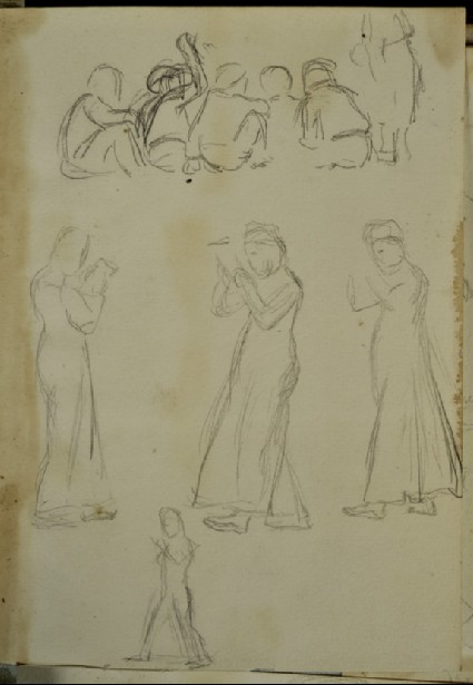 Studies of Arab Children and a Man and of sailing Boats