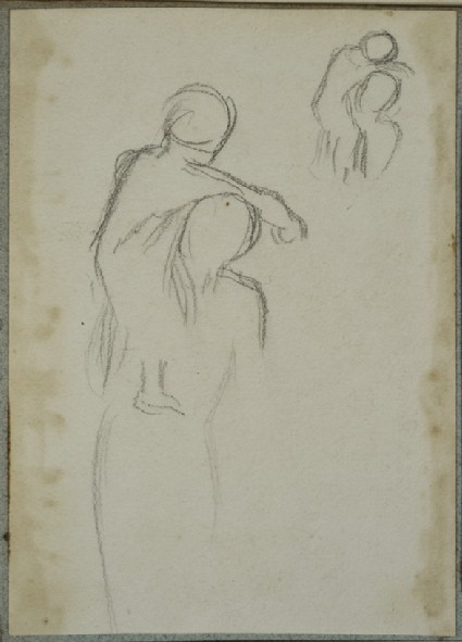 Two Studies of a Woman holding a Child on her Shoulder