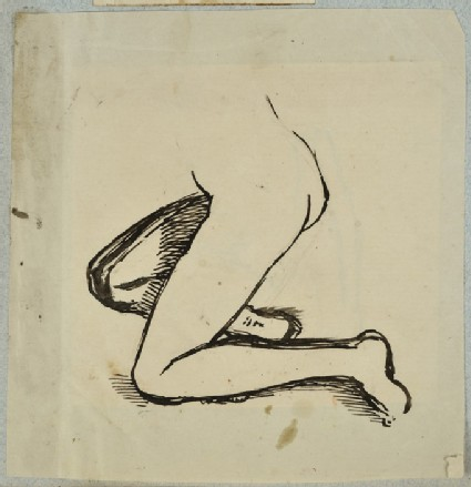 Study of the Lower Part of a Kneeling Woman