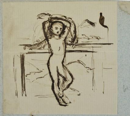 Nude Boy, Arms raised