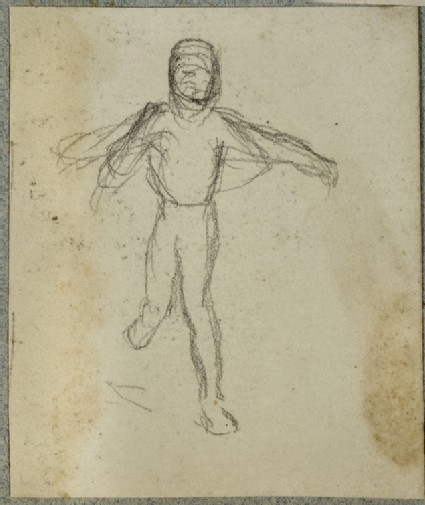 Study of a Child running, Arm outstretched