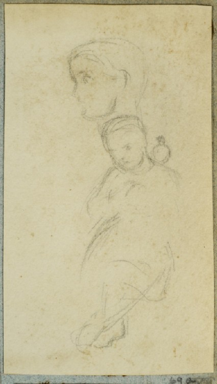 Seated Child with a Dove on her Shoulder