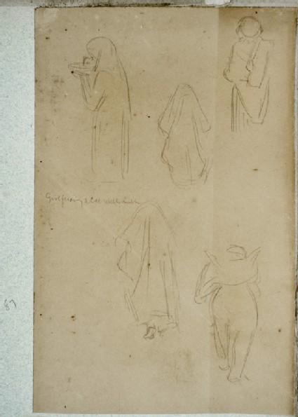 Studies of Arab Women and a European Woman in a Bonnet