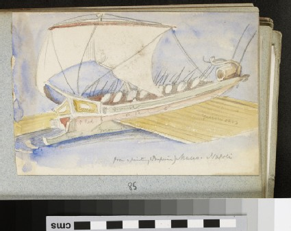 Sketch of a Boat copied from a Pompeian Painting