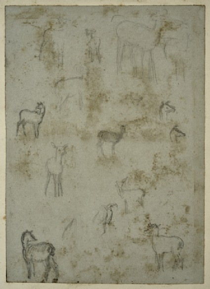 Studies of Deer for 'Blackheath Park' and 'The Children's Holiday'