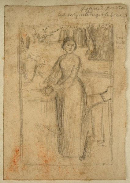 Study of Mrs Fairbairn in the Grounds of Burton Park, for 'The Children's Holiday'