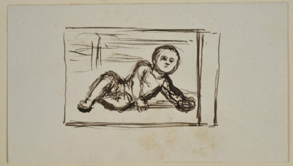 Study of a reclining Baby