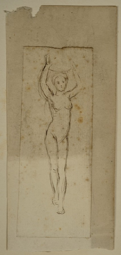 Study of a Female Nude, for 'The Afterglow in Egypt'