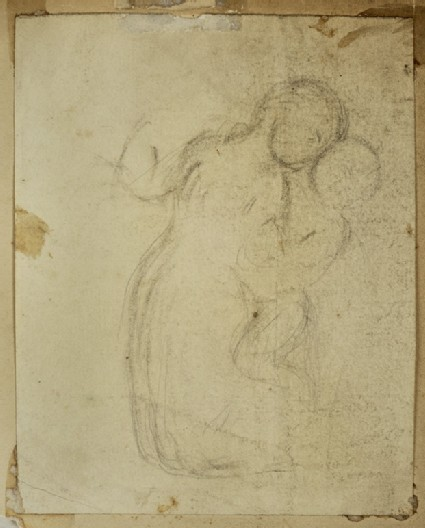 Study of a Woman kneeling and embracing a Child