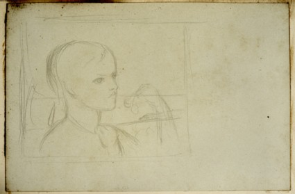 Compositional Study of a Boy eating Cherries