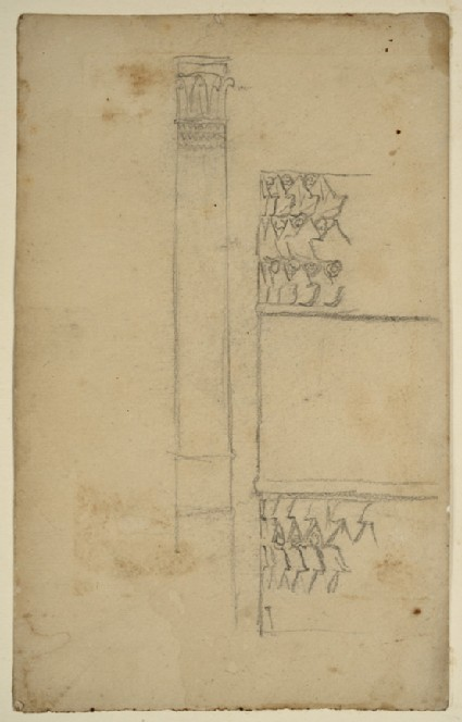 Studies of a Pillar and Wall Decoration