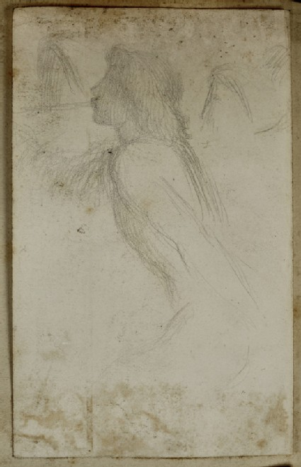 Study of an Angel blowing a Trumpet