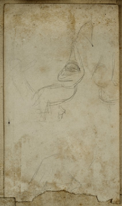 Study of a female Figure swinging on a Rope