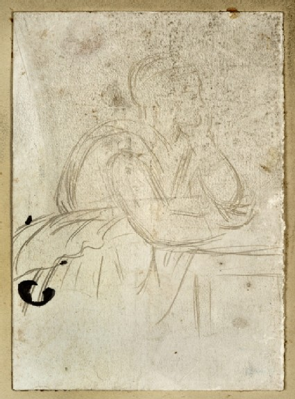 Study of a Figure leaning on a Table