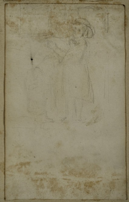 Study of Two Girls embracing