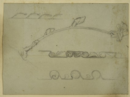 Recto: Study of Frieze Decoration for a Frame
