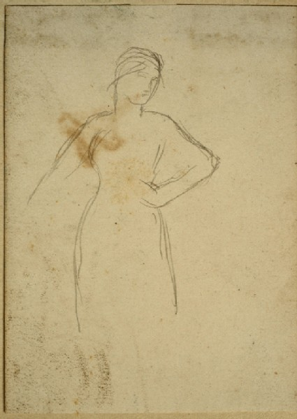 Slight Study of a Woman standing with Hand on Hip