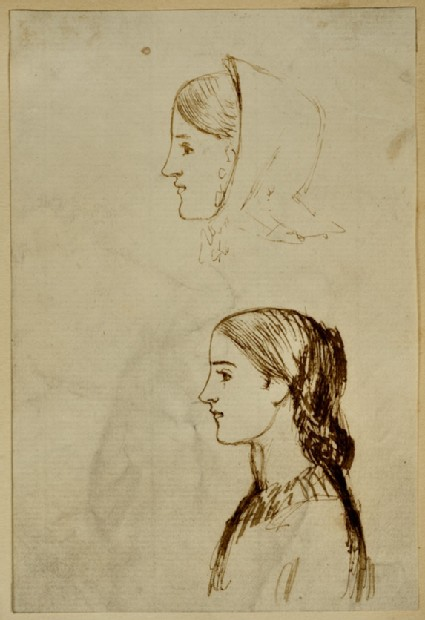 Two Studies of the Head of Annie Miller