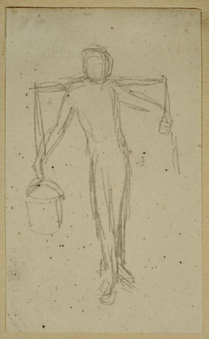 Study of a Male Nude carrying Buckets from a Yoke