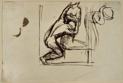 Studies of a Man kneeling before a Woman