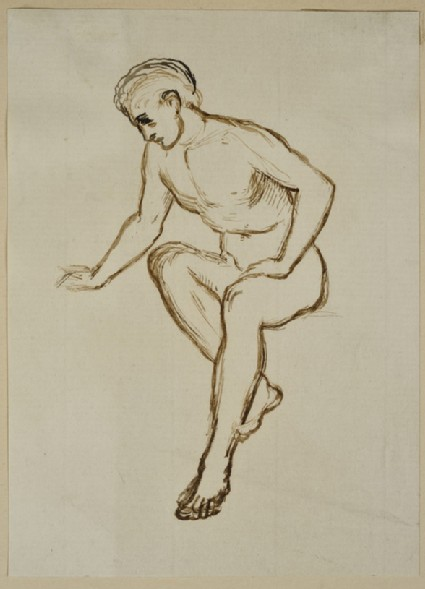 Study of a seated male Nude