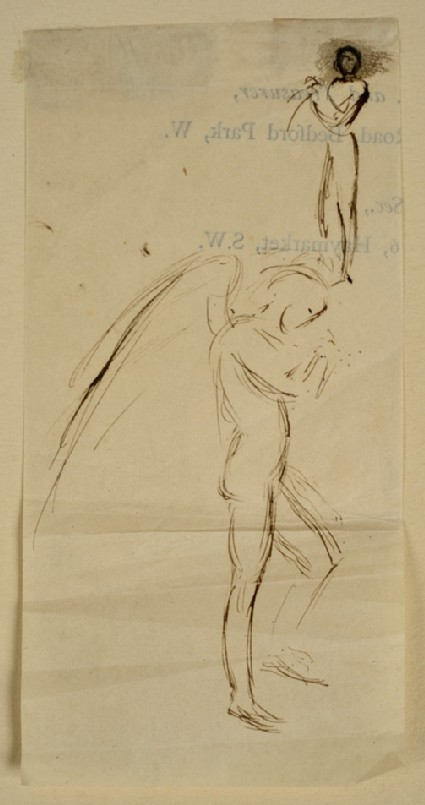 Studies of an Angel in profile, and of a male nude